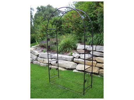 Oakland Living Vineyards Cast Iron Single Leaf Arbor