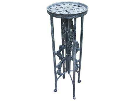Oakland Living Vineyards Cast Iron Grape Interlocking Plant Stand in Verdi Grey