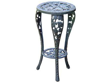 Oakland Living Vineyards Cast Iron Grape Table Plant Stand in Verdi Grey PatioLiving