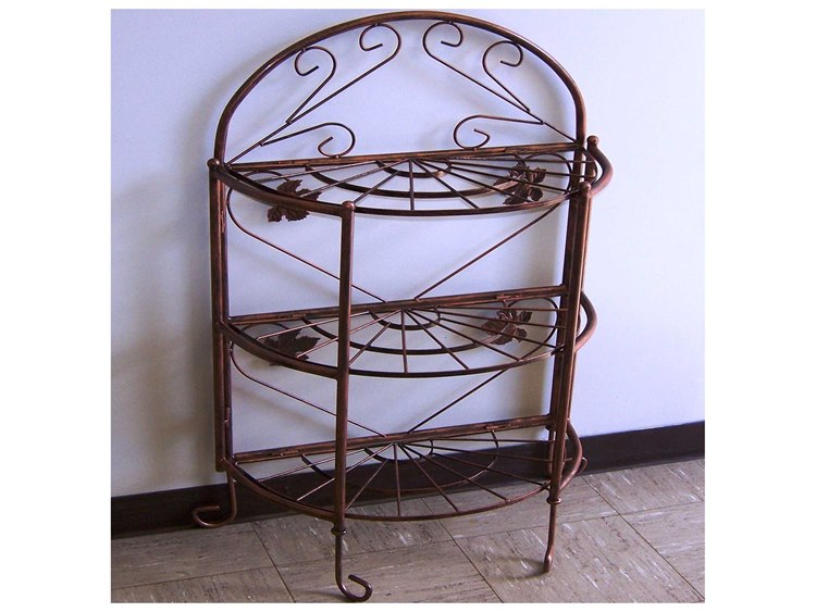 Oakland Living Wrought Iron Bakers Rack Sundance In Antique Bronze 5305 Ab