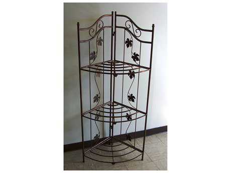 Oakland Living Wrought Iron Bakers Rack Sunrise in Antique Bronze