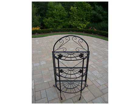 Oakland Living Wrought Iron Bakers Rack Sundance in Black