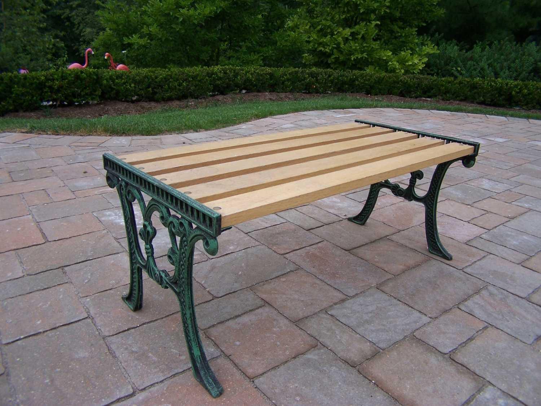 Oakland Living Cast Iron 37 X 15 Rectangular Wooden Coffee Table In Verdi Green
