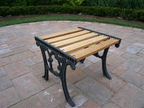 Oakland Living Cast Iron 19 x 15 Rectangular Wooden End Table in Verdi Green