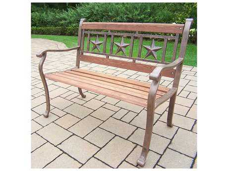 Oakland Living Wroungt Iron Triple Star Bench in Antique Bronze
