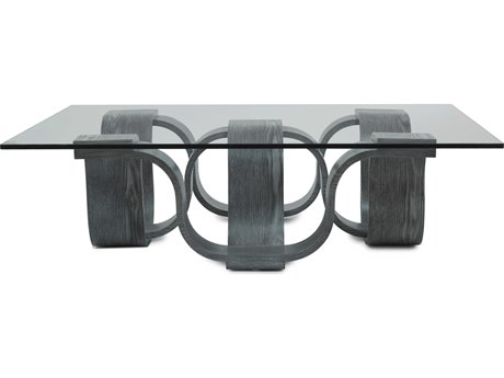 Oggetti Glass/ Grey 54'' Wide Square Cocktail Table OGG02SQCTG54