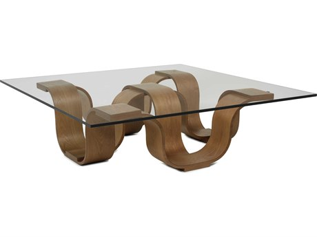 Oggetti Glass/ Medium Brown 54'' Wide Square Cocktail Table OGG02SQCTM54