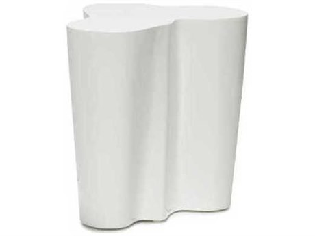 Oggetti Orgo White 18''W x 15''D Occasional End Table