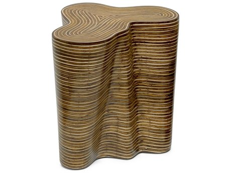 Oggetti Orgo Showtime Light / Medium Brown 22''W x 18''D Occasional End Table OGG04STORGOLG