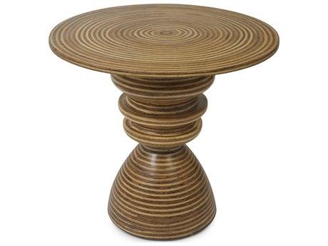 Oggetti Cobo Light / Medium Brown 24'' Wide Round Pedestal Table OGG04STCOET