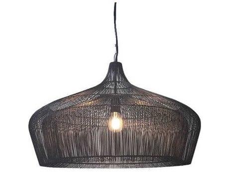 Oggetti Schema Moire Black 26'' Wide Pendant Light OGG49MOISUFBK