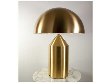 Oluce Atollo Gold Two-Light Table Lamp OE233OR