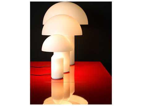 Oluce Atollo White Small Three-Light Table Lamp OE236