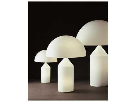 Oluce Atollo White Medium Three-Light Table Lamp OE237