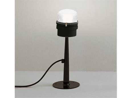Oluce Fresnel Small Black Outdoor Post Light OE1148EC