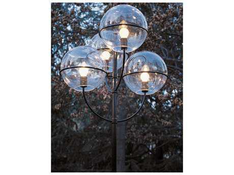 Oluce Lyndon Black Large Four-Light Outdoor Post Light