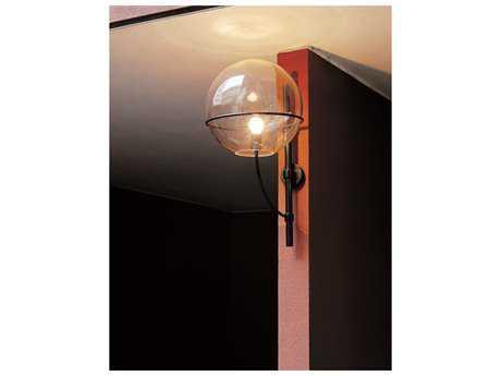 Oluce Lyndon Large Black Outdoor Wall Light OE160