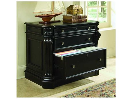 Hooker Furniture Telluride Black with Reddish Brown Rub File Cabinet (OPEN BOX)