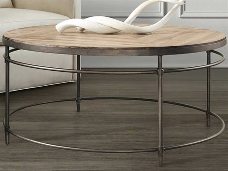Hooker Furniture St Armand Light Wood 38'' Wide Round Coffee Table (OPEN BOX) OBX560180110LTWDOPENBOX