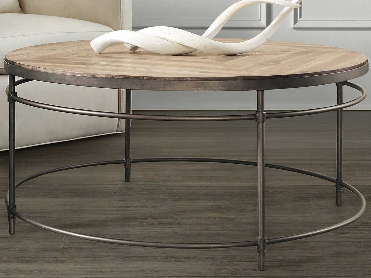 - Hooker Furniture St Armand Light Wood 38'' Wide Round Coffee Table (OPEN  BOX) 5601-80110-LTWD-OPENBOX