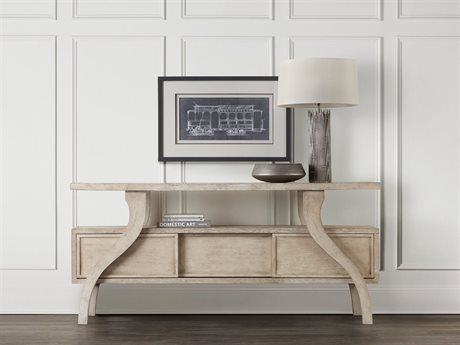 Hooker Furniture Refuge White 74''L x 20''W Rectangular Accent Console Table (OPEN BOX) OBX565085001WHOPENBOX