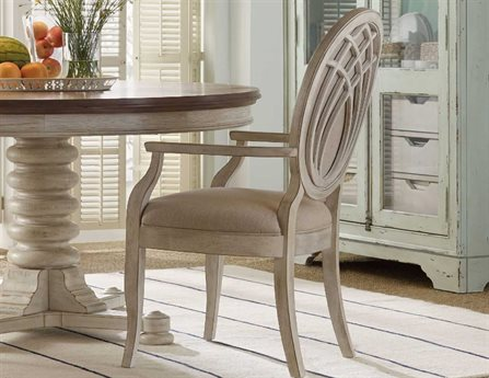Hooker Furniture Sunset Point Lockram / White Dining Arm Chair (OPEN BOX)