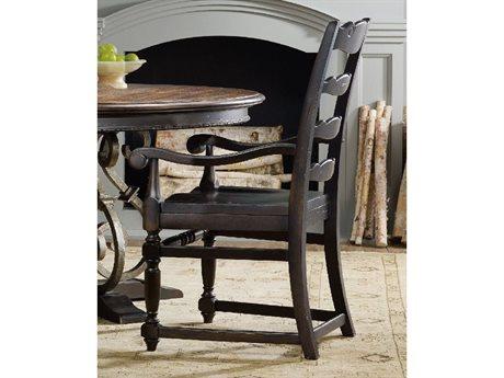 Hooker Furniture Treviso Ladderback Dark Macchiato Dining Arm Chair (OPEN BOX)