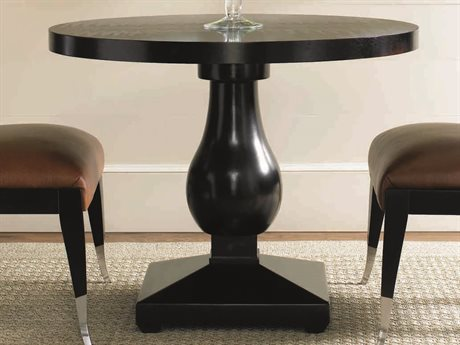 Caracole Classic Caviar 36'' Wide Round Dining Table (OPEN BOX) OBXTRASIDTAB001OPENBOX