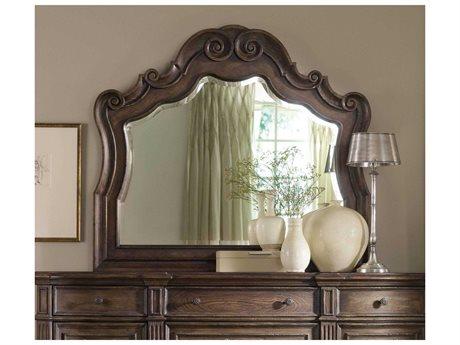 Hooker Furniture Rhapsody Rustic Walnut 50''W x 44''H Landscape Dresser Mirror (OPEN BOX)
