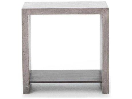 Four Hands Everett Hugo Polished Concrete End Table (OPEN BOX)