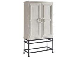 Barclay Butera Newport Jade Sailcloth Bar Cabinet (OPEN BOX)