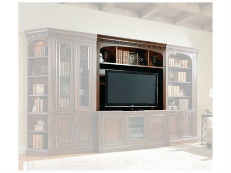 Hooker Furniture European Renaissance II Dark Rich Brown Entertainment Console Hutch (OPEN BOX) OBX37455582OPENBOX