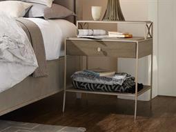 Hooker Furniture Elixir Soft Grey / Champagne Silver 25''W x 19''D Rectangular Nightstand ()