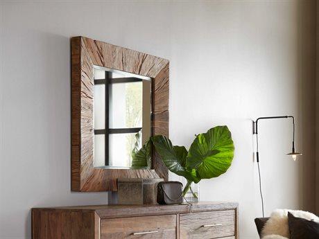 Hooker Furniture L'Usine Medium Wood 40'' Wide Square Wall Mirror (OPEN BOX) OBX595090004MWDOPENBOX