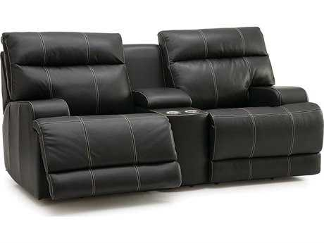 Palliser Lincoln Console Recliner Loveseat with Cupholder