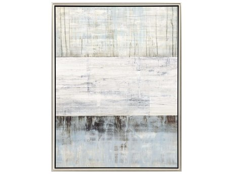Paragon Abstract Fog and Snow Canvas Wall Art