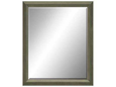 Paragon Beveled 27 x 33 Silver with Black Accents Wall Mirror