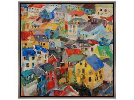 Paragon Dixon Reykjavik Rooftops Painting PAD7143