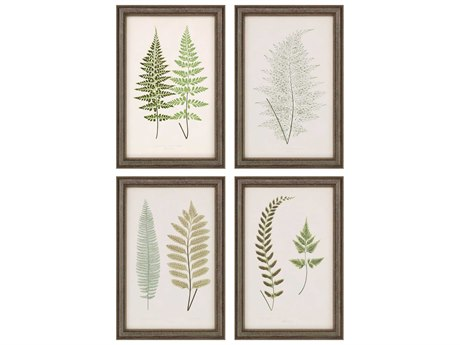 Paragon Fern Study Canvas Wall Art (Set of 4)