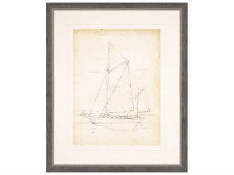 Paragon Harper ''Sailboat Blueprint V'' Wall Art