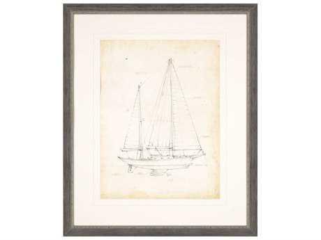 Paragon Harper ''Sailboat Blueprint VI'' Wall Art