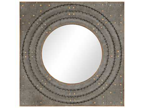 Paragon Industria 25'' Square Silver Patina Wall Mirror PAD9443