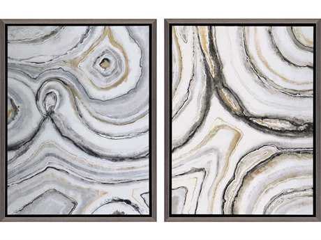 Paragon Jardine Shades Of Gray Painting (Two-Piece Set)