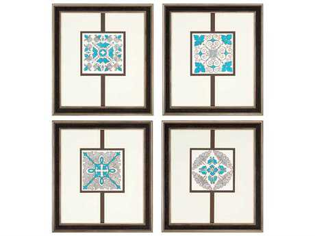 Paragon Kinder Harris Jardine Sassy Emeralds Painting (Four-Piece Set)