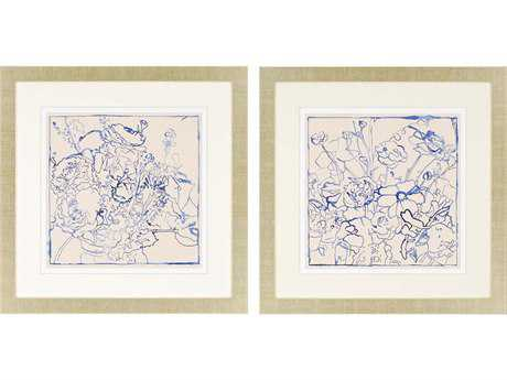 Paragon Meagher Indigo Floral Giclee Painting (Two-Piece Set)