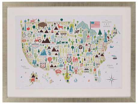 Paragon Mullan ''Illustrated USA'' Wall Art