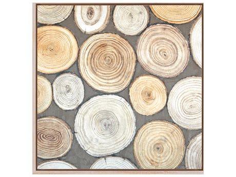 Paragon Naturals Tree Ring Study I Canvas Wall Art