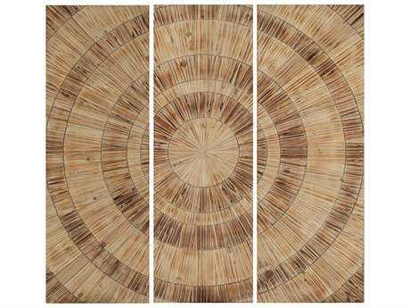 Paragon Nature Circles Wall Art (Three-Piece Set)