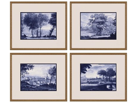 Paragon Pastoral Toile Canvas Wall Art (Set of 4)