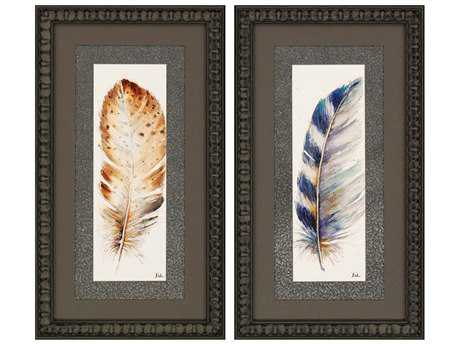 Paragon Pinto Plumes I Painting (Two-Piece Set)